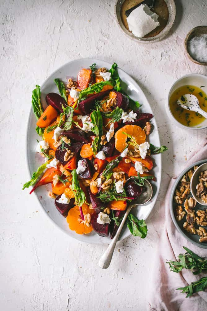 Easy Beets Salad with tarragon dressing