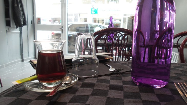 Pretty tea glasses at the Syrian Lebanese restaurant