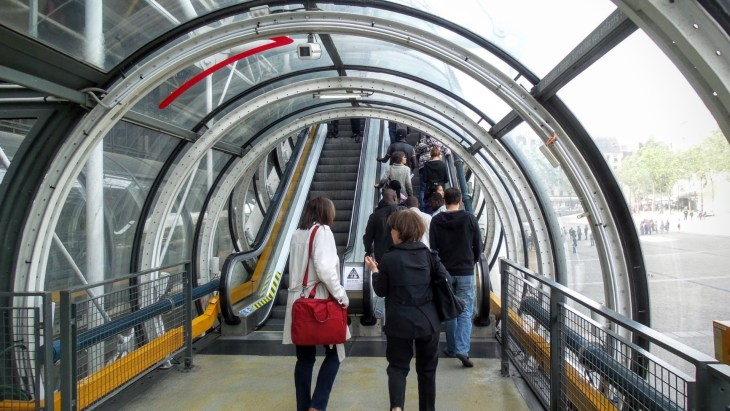 The Pompidou escalators