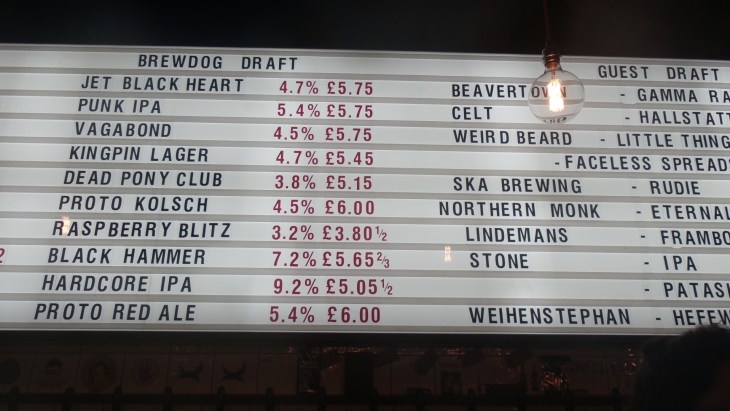 brew dog beer signs