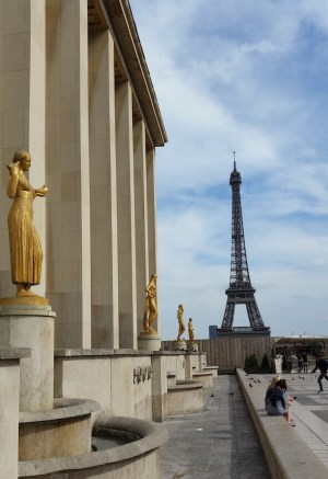 Nice view of the Eiffel Tower from the direction of place de la concorde.