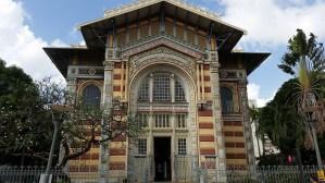 Schœlcher library. Named after Victor Schœlcher, an abolitionist. (pronounced Schel-scheer.