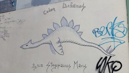 stegosaurus graffiti