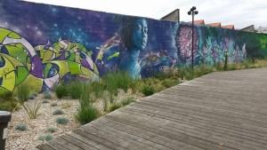 a mural in St Ouen