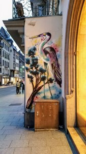 Graffiti of a stork