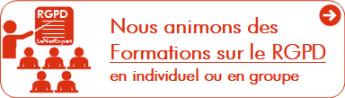 Nous animons des Formations sur le RGPD en individuel ou en groupe