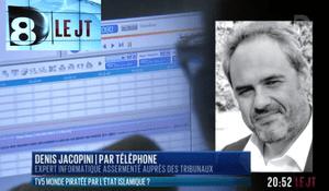 Denis JACOPINI au JT de D8 à la suite de la cyberattaque (piratage informatique) de TV5 monde