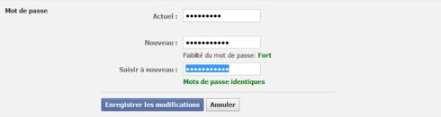 Comment changer son mot de passe Facebook