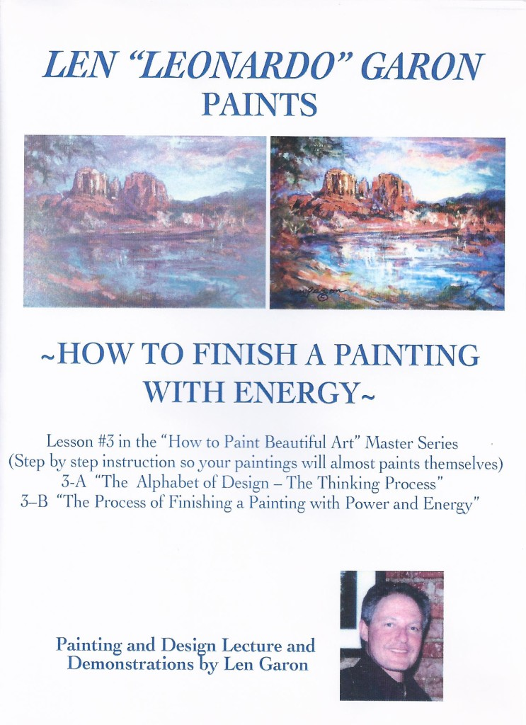 DVD #3 HOW TO FINISH A PAINTING  FRONT COVER