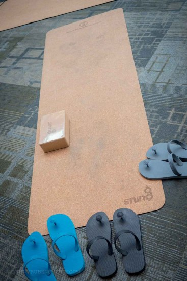 Sustainable Yoga mat made of rubber and cork