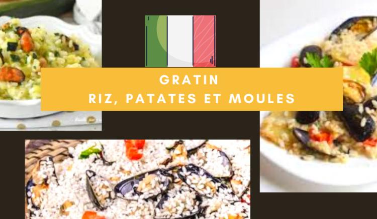 banniere recette gratin moules riz patates