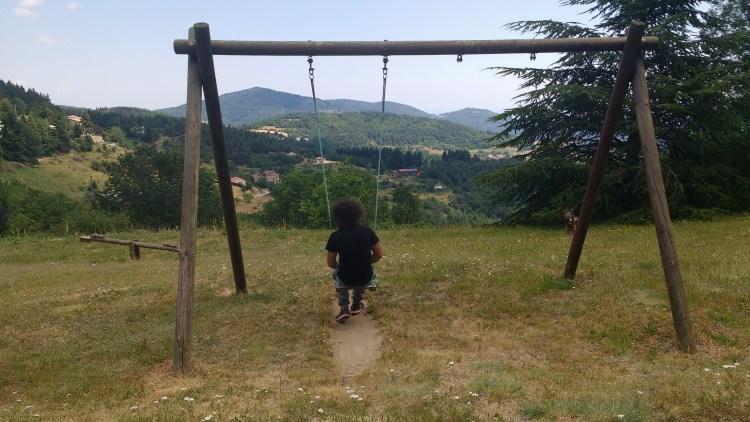 le parc du village et sa vue - Ardèche