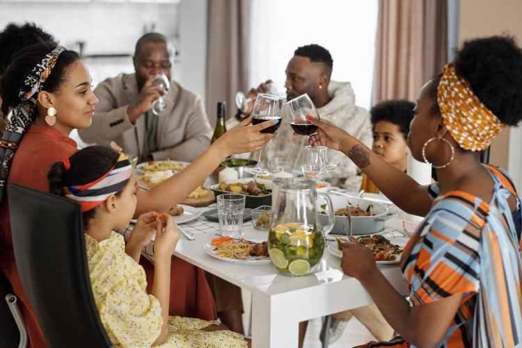 avoir un diner avec ces amis ou sa famille est essentiel