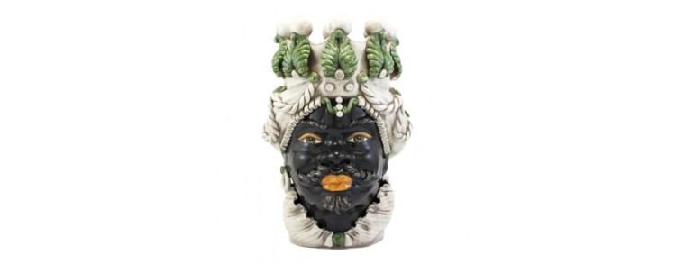 tete ceramique noel italien