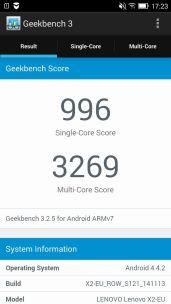 Lenovo Vibe X2 Geekbench