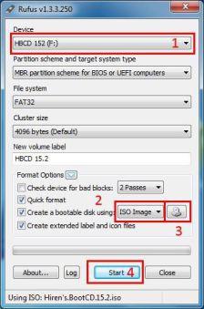 1. umístění vašeho USB 2. volba ISO 3. najítí konrétního ISO 4. startujeme startem :)