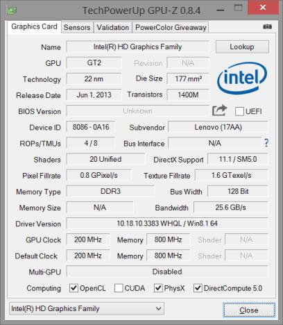 GPU-Z-Intel