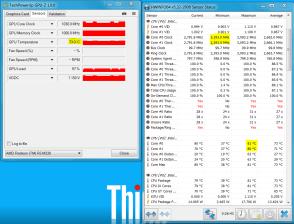 Teploty CPU a GPU po 20 minutách zátěže