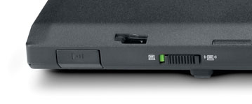 Přepínač na ThinkPadu T60.