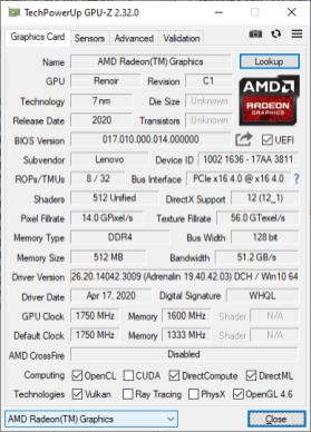 S540 GPUz