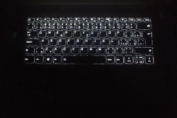Pohled na podsvícení klávesnice.