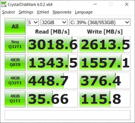 Lenovo Legion Creator 7 – CrystalDiskMark