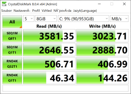 Yoga Slim 7 Pro 14ACH5 CrystalDiskMark