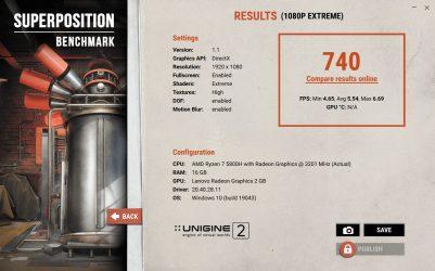 Yoga Slim 7 Pro 14ACH5 Unigine-Superposition-benchmark