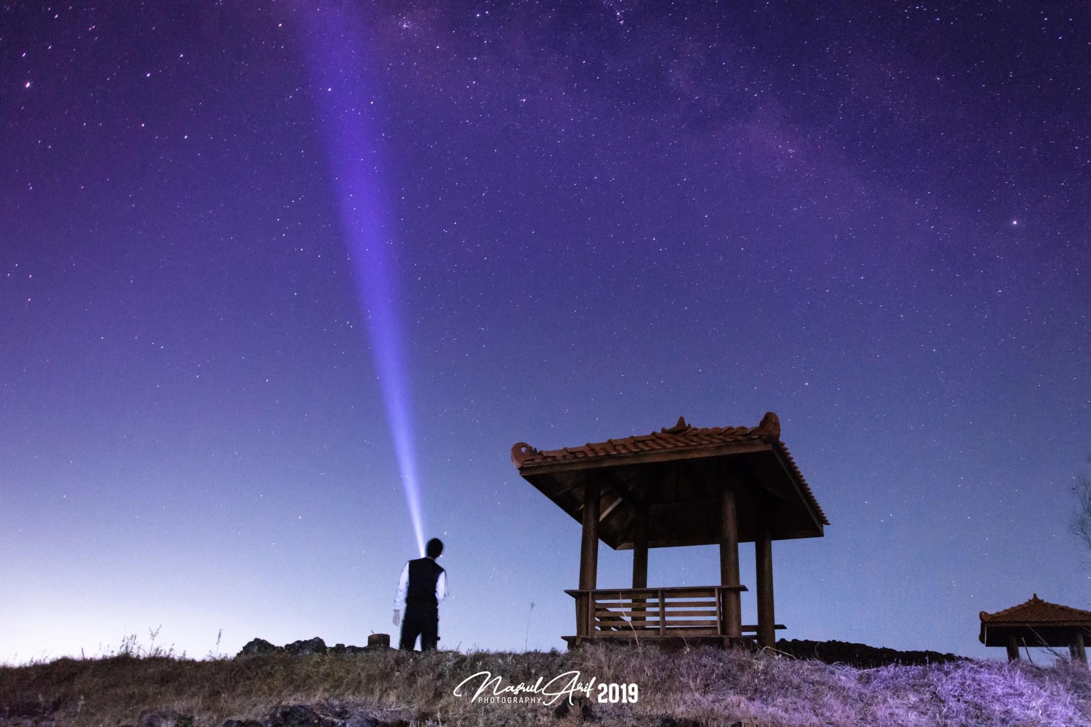 Milky way di Gunung Ireng Gununung Kidul Yogyakarta