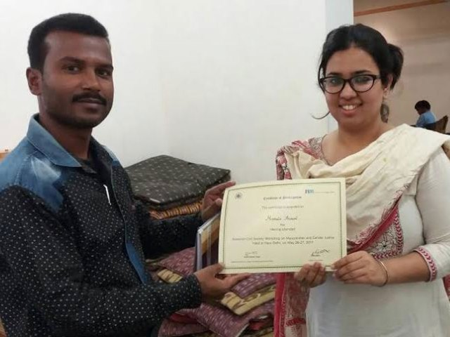 Journalist of jharkhand felicitated