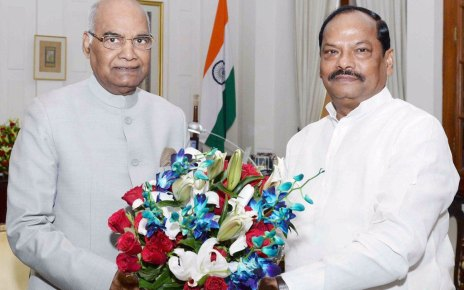 chief minister of jharkhand raghuwar das met president.