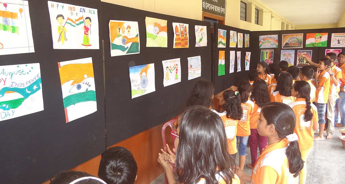 Drawing exhibition by kalakriti school of arts.