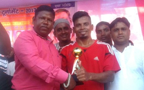 Shahid etwa oraon football tournament 2017-18 : international player scored five goals