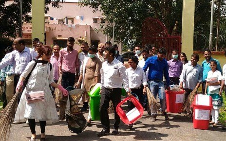 Programme of cleanliness on occasion of Gandhi jayanti by chotanagpur law college