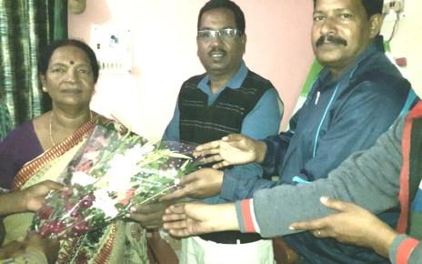 Simdega bjp congratulated mla vimla pradhan on her selection for best mla