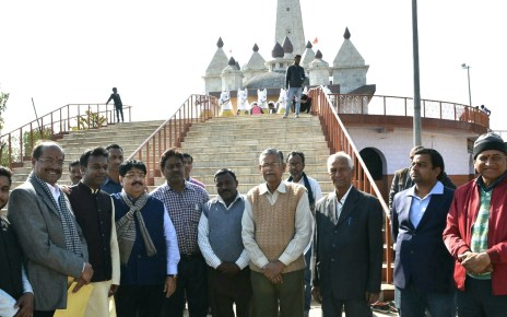 A marriage hall, water and sanitation facility in surya mandir will be build with the help mp fund.