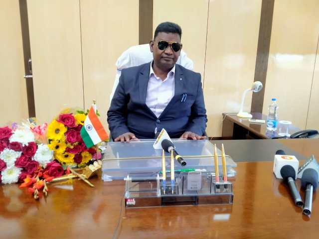 Minister satyanand bhokta took the office charge