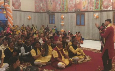 Celebration of the 15th installation day of sri shyam mandir