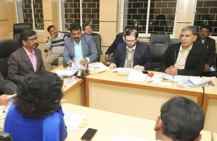 marathon Review by cm Jharkhand hemant Soren with ministers and officials