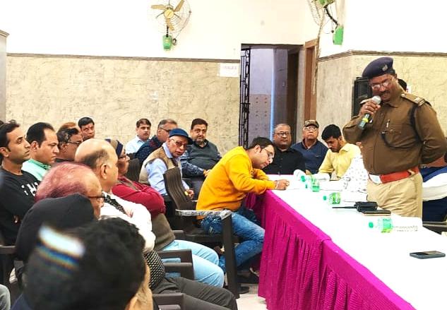 Meeting in sri radha krishna mandir premises for increased criminal activities in krishna nagar colony