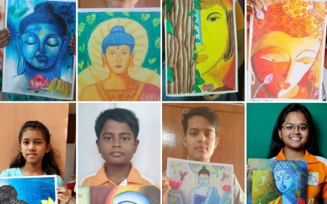Painting competition by kalakriti school of arts on occassion of buddha purnima