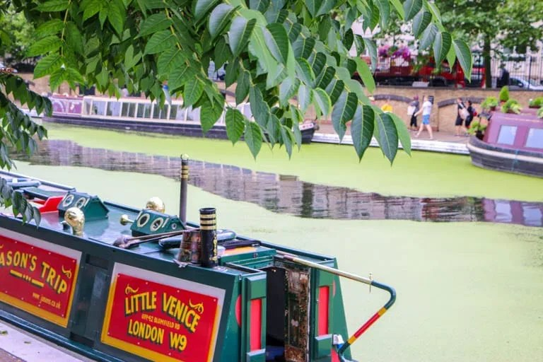 Houseboats and Cafe's along Regent's Canal