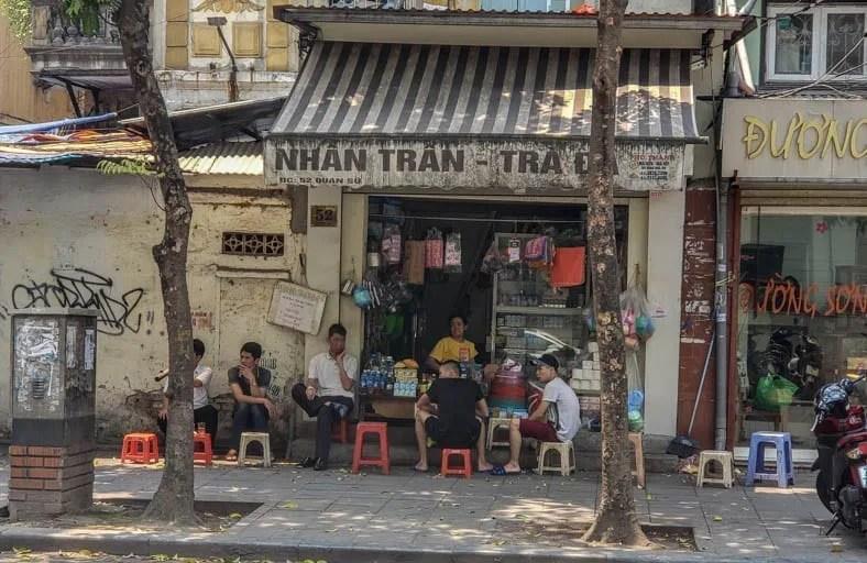 Sidewalk Life in Hanoi