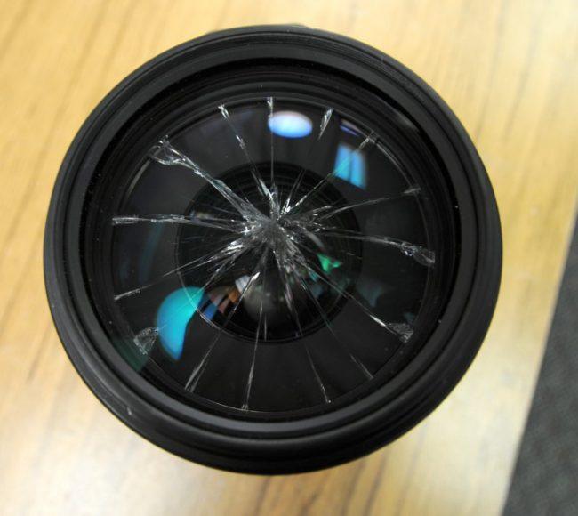 front-element-broken-lens
