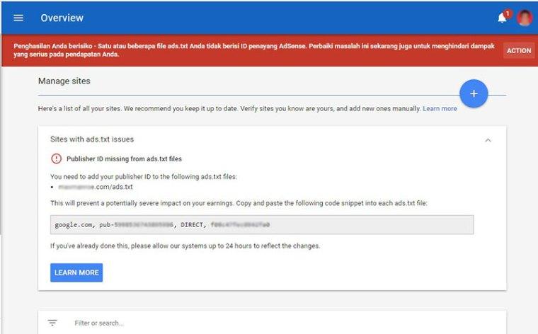 Cara Menambah Ads.txt Untuk Custom Domain Blogger