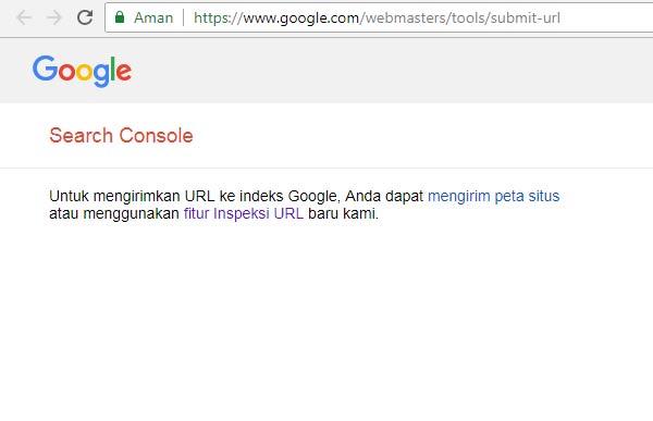 Laman submit url Google