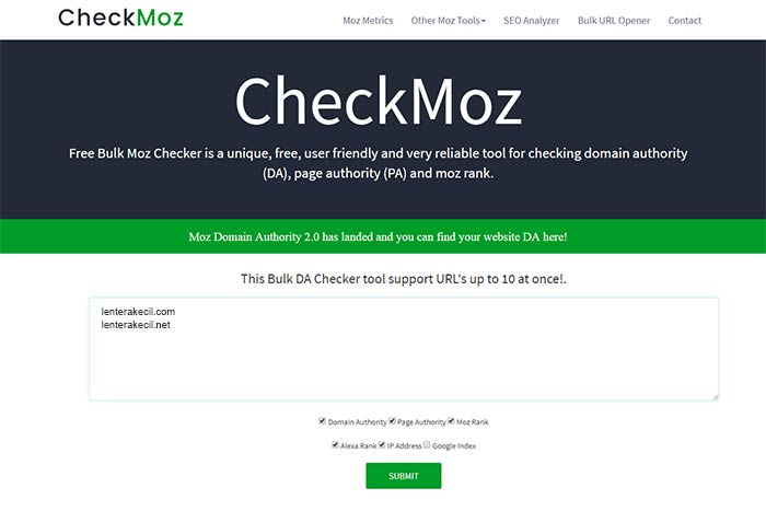 Moz Domain Authority 2.0