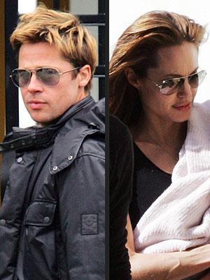 Brad Pitt e Angelina Jolie de Ray Ban Aviador