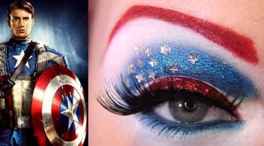 Maquiagem Capitão América