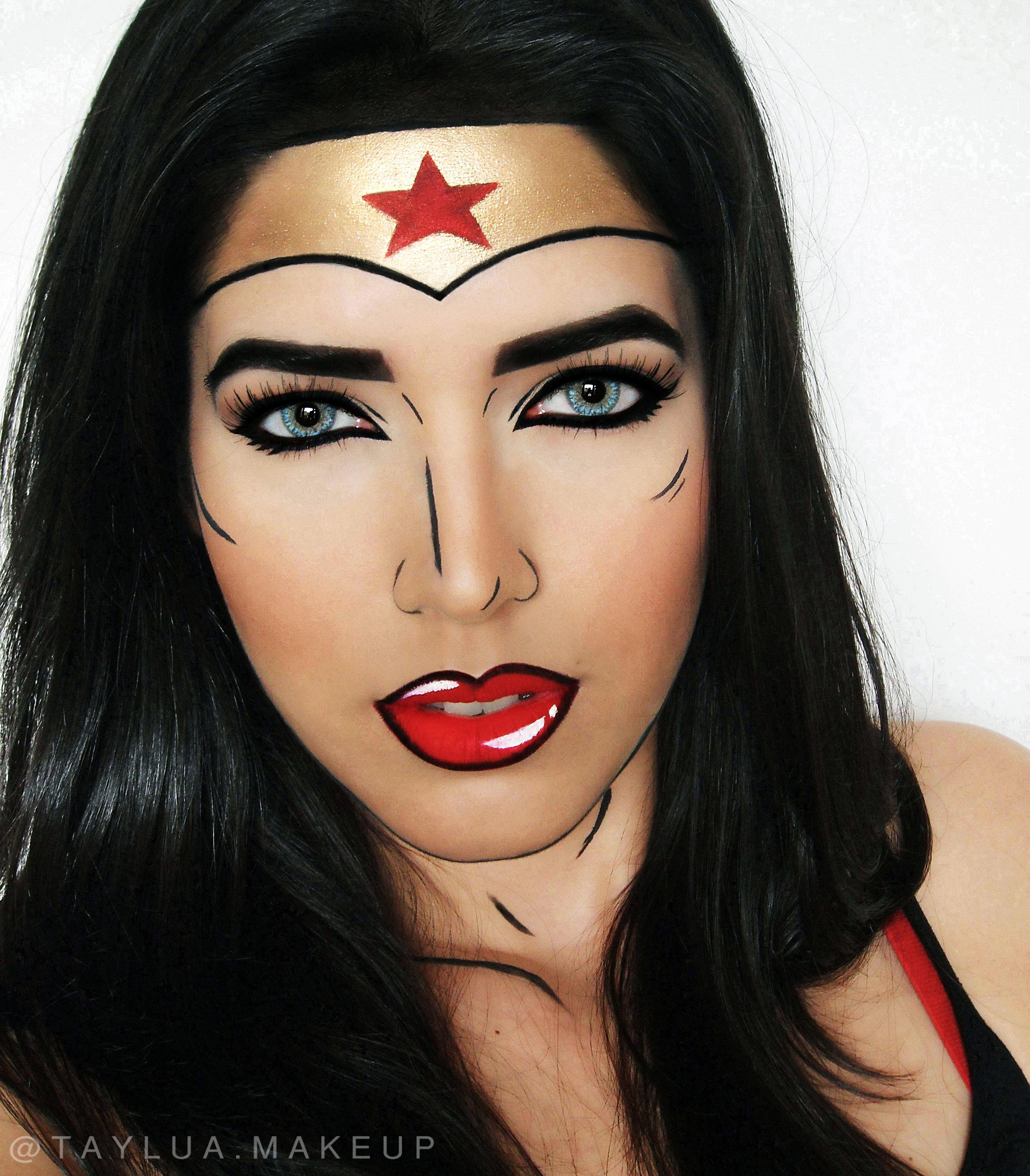 Maquiagem Pop Art Mulher Maravilha
